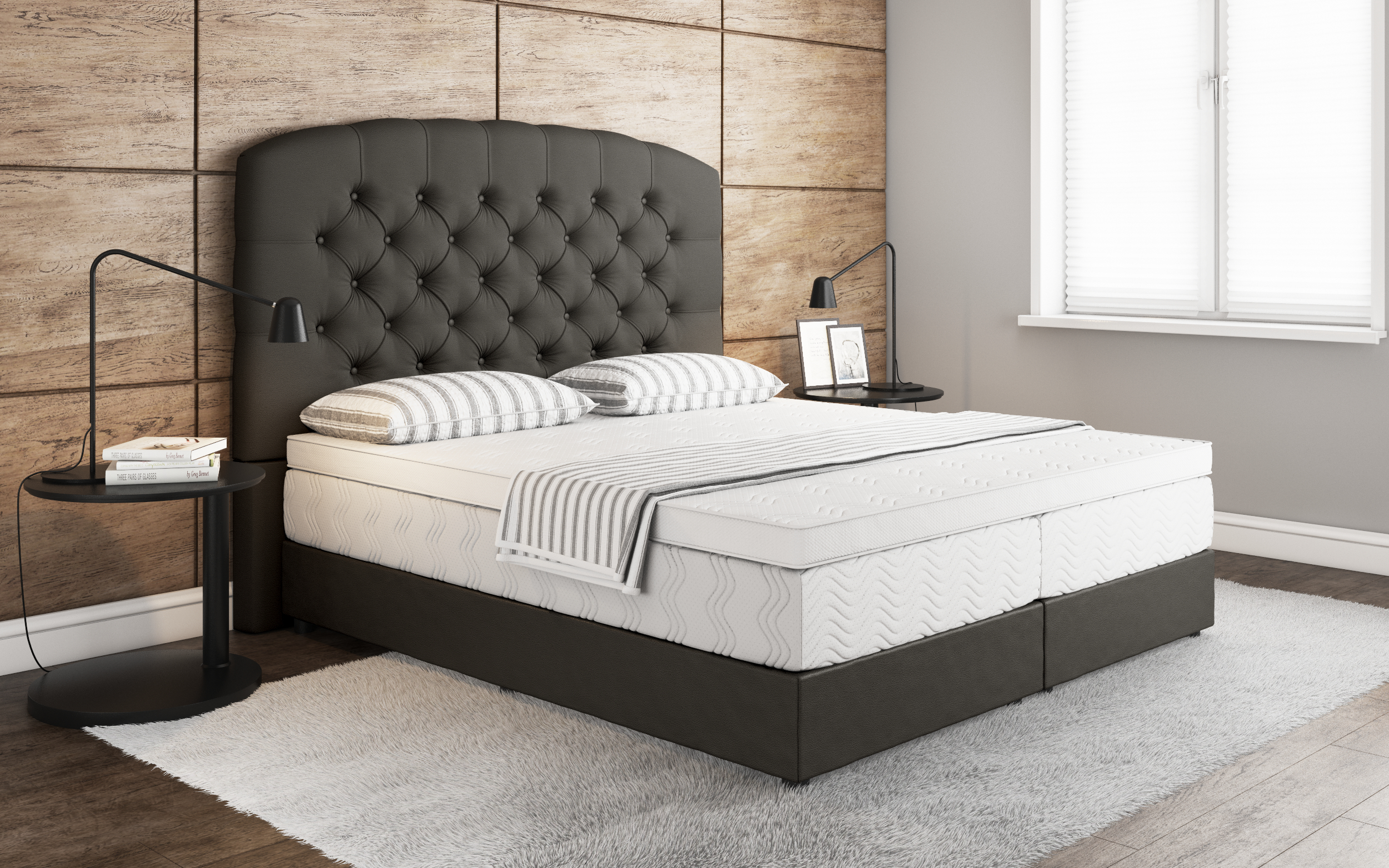 boxspringbett sliema. Black Bedroom Furniture Sets. Home Design Ideas