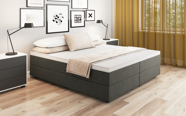 boxspringbett debora 120x200 cm weiss. Black Bedroom Furniture Sets. Home Design Ideas