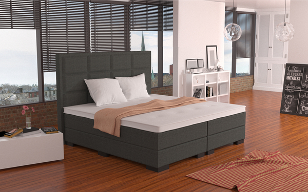 boxspringbett 24 hochwertige boxspringbetten online kaufen. Black Bedroom Furniture Sets. Home Design Ideas